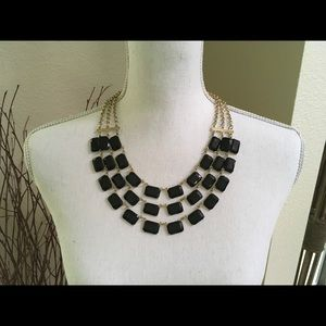 Black and Gold 3 Tier Necklace
